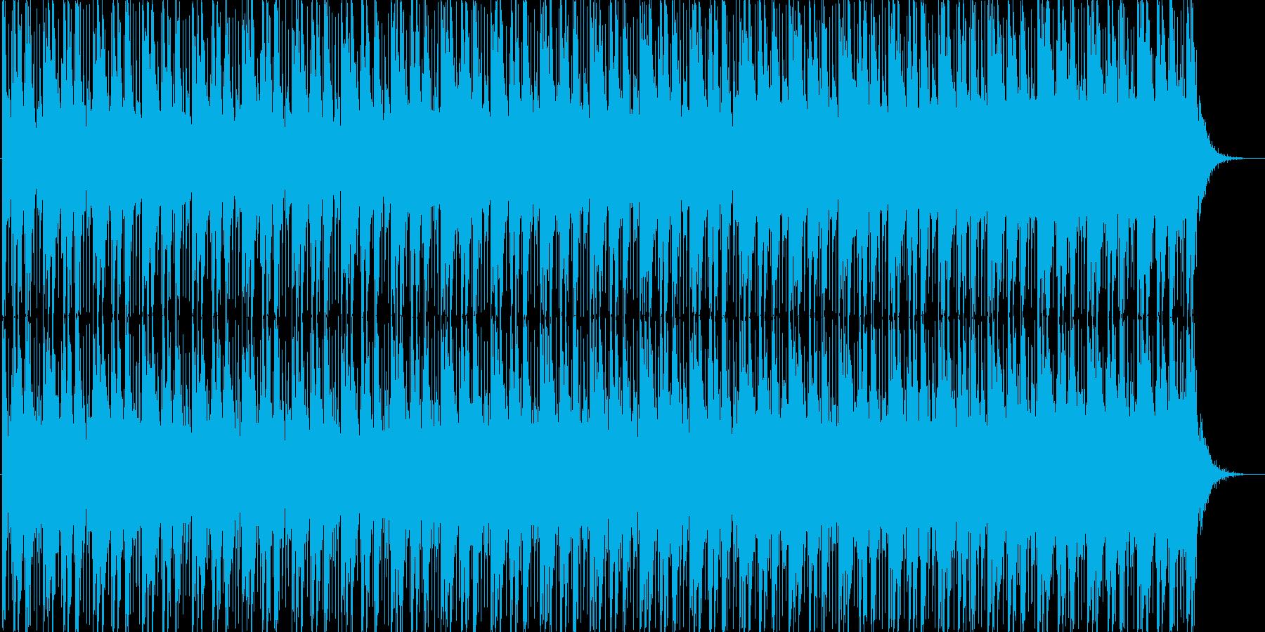 ほのぼの雰囲気のテクノポップの再生済みの波形