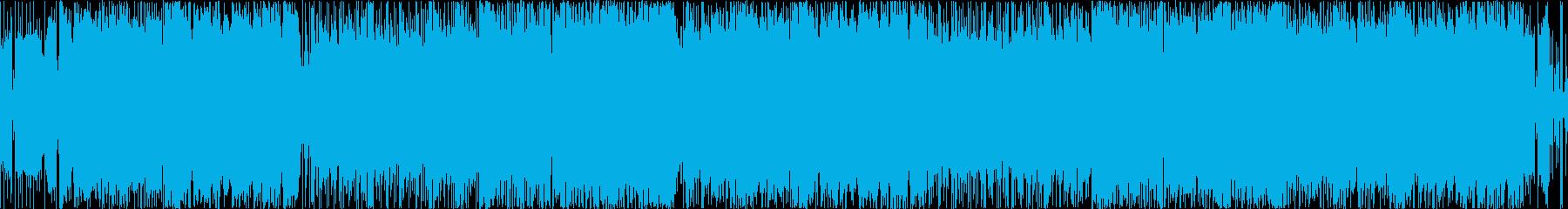 【生演奏】ヘビーなギターリフがメインの曲の再生済みの波形