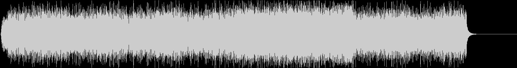 エレキギター炸裂のメタルリフ/戦闘シーンの未再生の波形