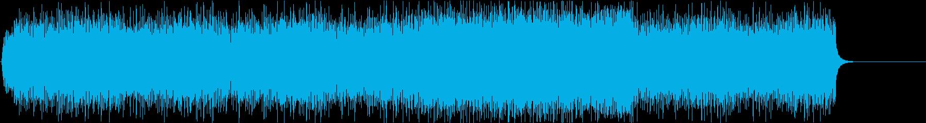 エレキギター炸裂のメタルリフ/戦闘シーンの再生済みの波形