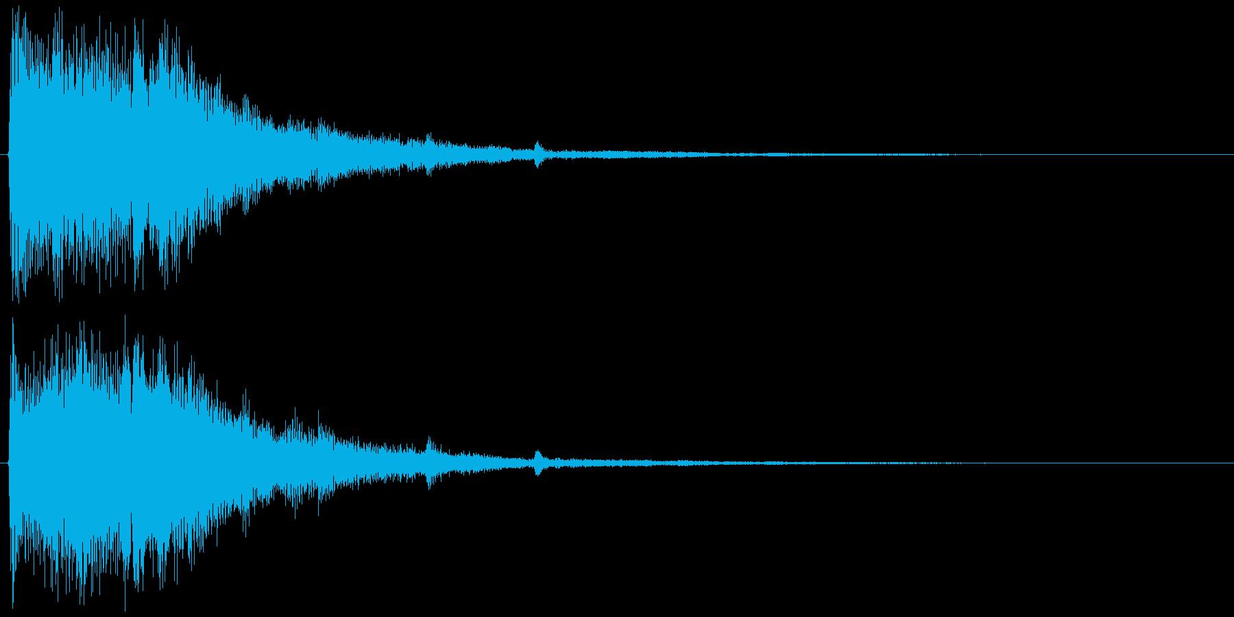チャララララン↑(決定音、和風、豪華)の再生済みの波形