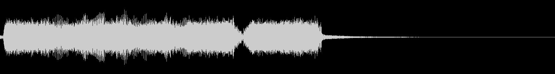 エレキ一本による踏みならすようなジングルの未再生の波形