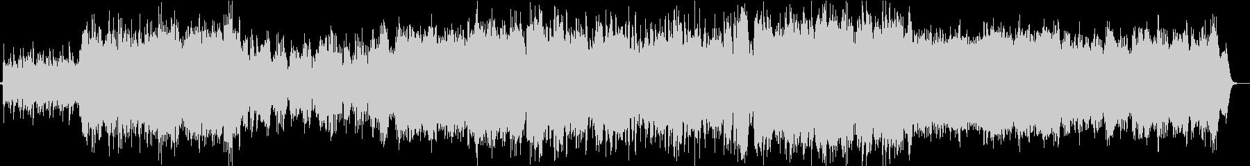オーケストラによる壮大なケルト風BGMの未再生の波形