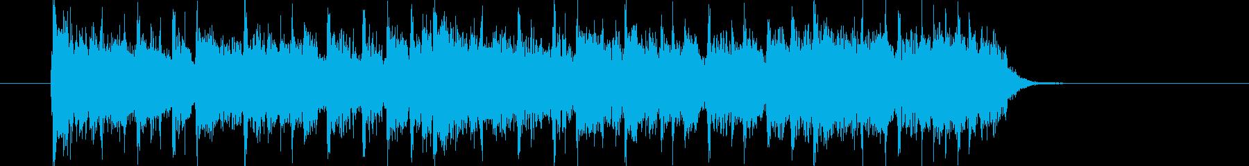 臨場感がありエレクトーンが印象的なロックの再生済みの波形