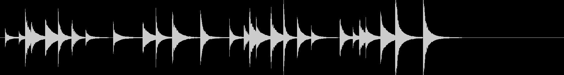 松虫2キラキラジングル鉄琴忙しいアジアンの未再生の波形