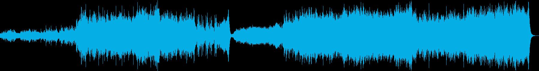 戦国の戦、壮大なシーンの曲の再生済みの波形