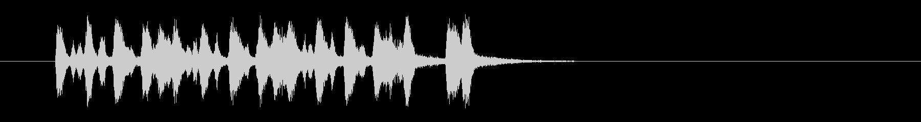 ジングル(マイナー・タンゴ)の未再生の波形