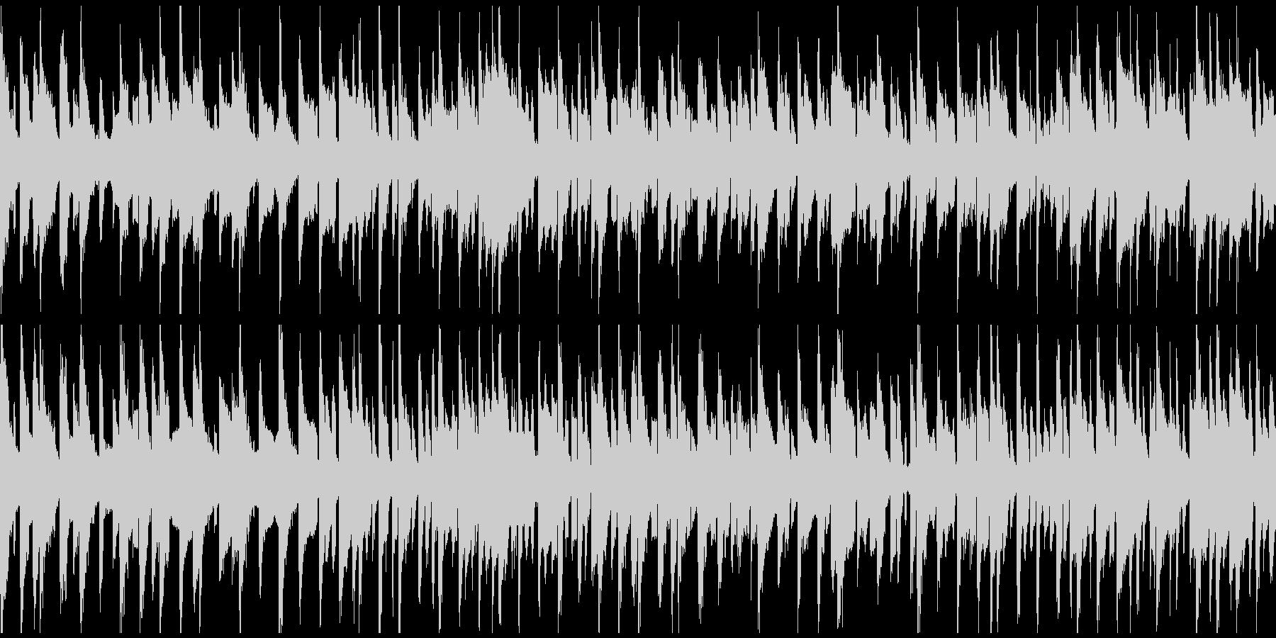 リコーダー、ゆるいブルース ※ループ版の未再生の波形