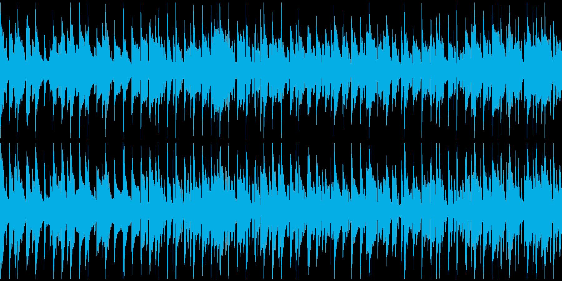 リコーダー、ゆるいブルース ※ループ版の再生済みの波形