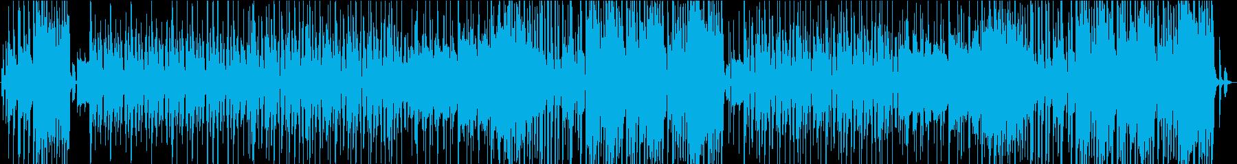 ころころとした可愛らしい雰囲気の楽曲の再生済みの波形