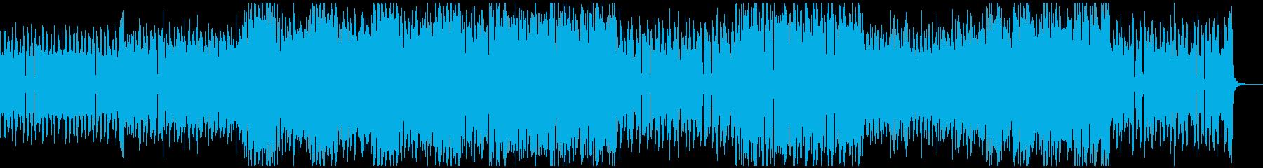 アグレッシブな低音が響くダークテクノの再生済みの波形