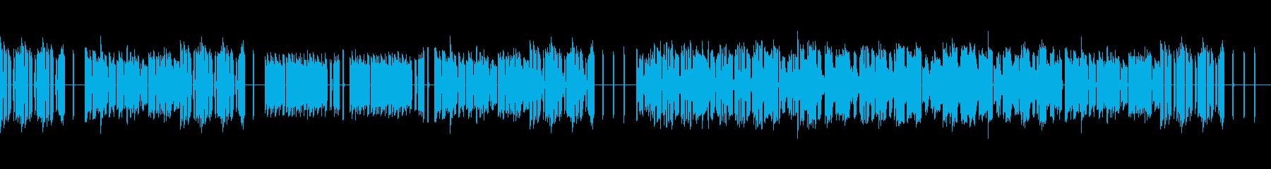 複雑に絡み合うフュージョン系のオルガンの再生済みの波形