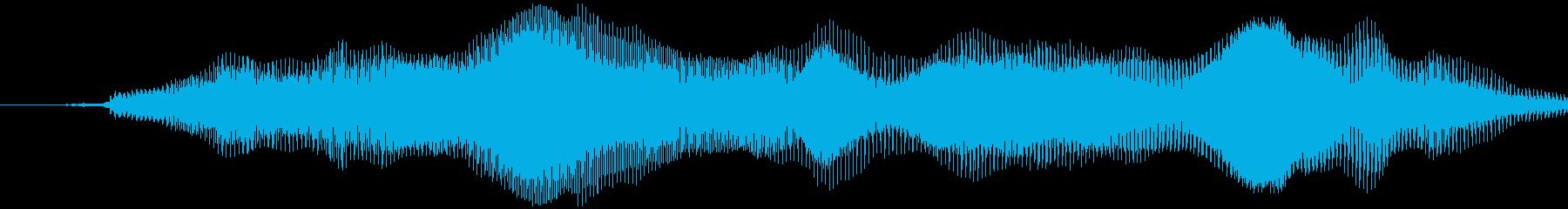 グラビティチューブ(平坦、長め)ミョーンの再生済みの波形