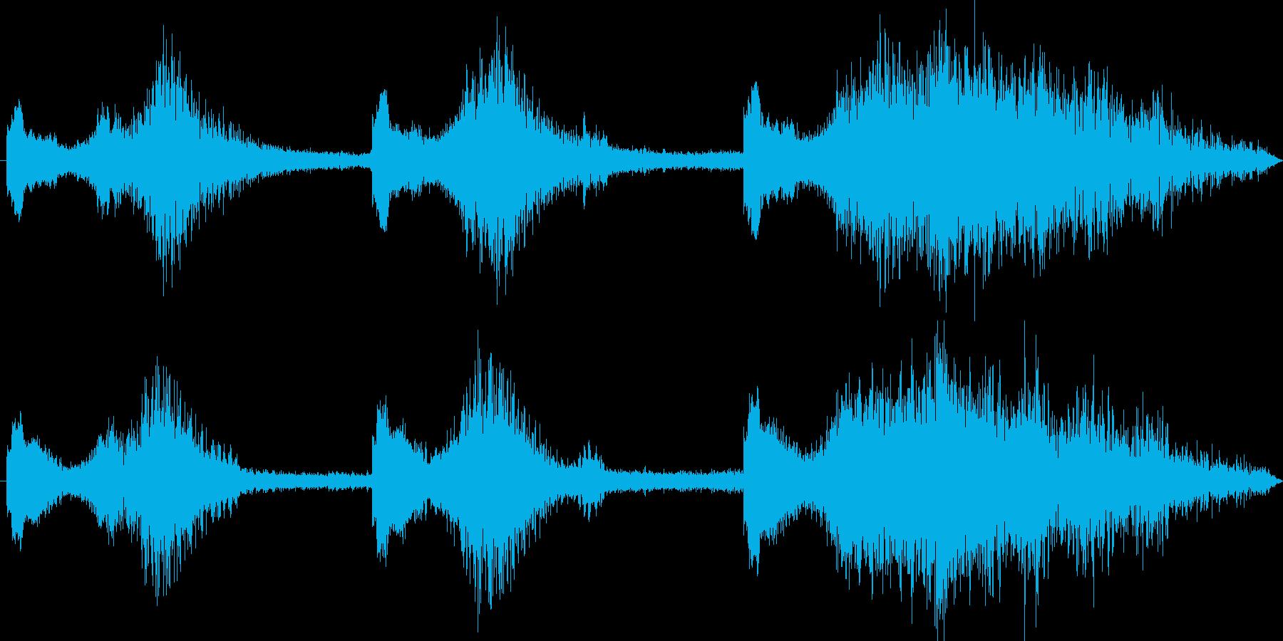低うなり声で深く、中空の衝撃をうなりますの再生済みの波形