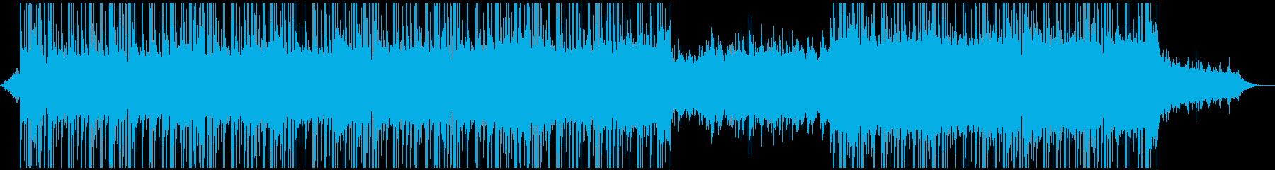 無機質、クールでおしゃれなBGMの再生済みの波形