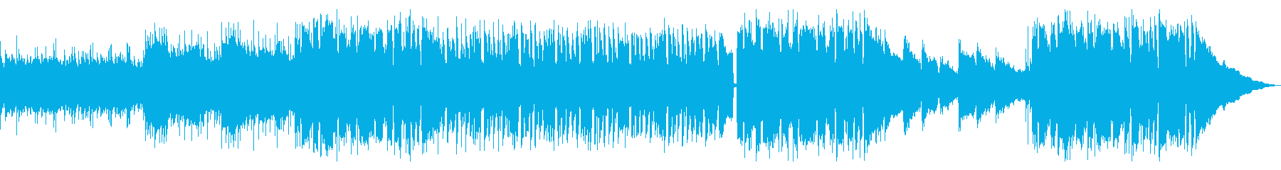 透明感あるポップス(バンド演奏)の再生済みの波形