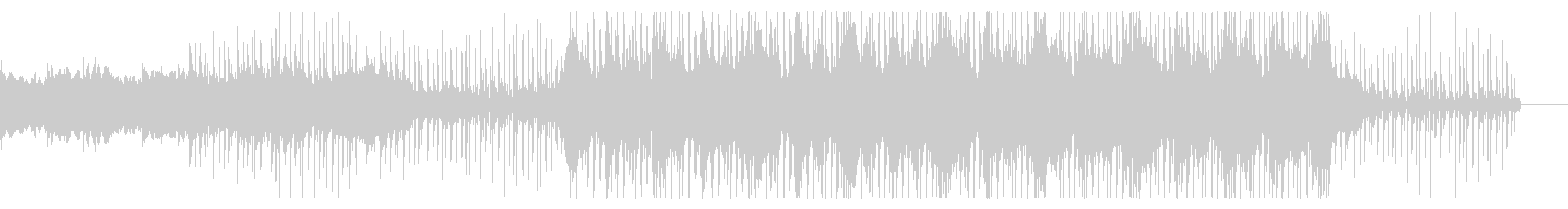 緊張感と落ち着きのあるエレクトロ楽曲の未再生の波形