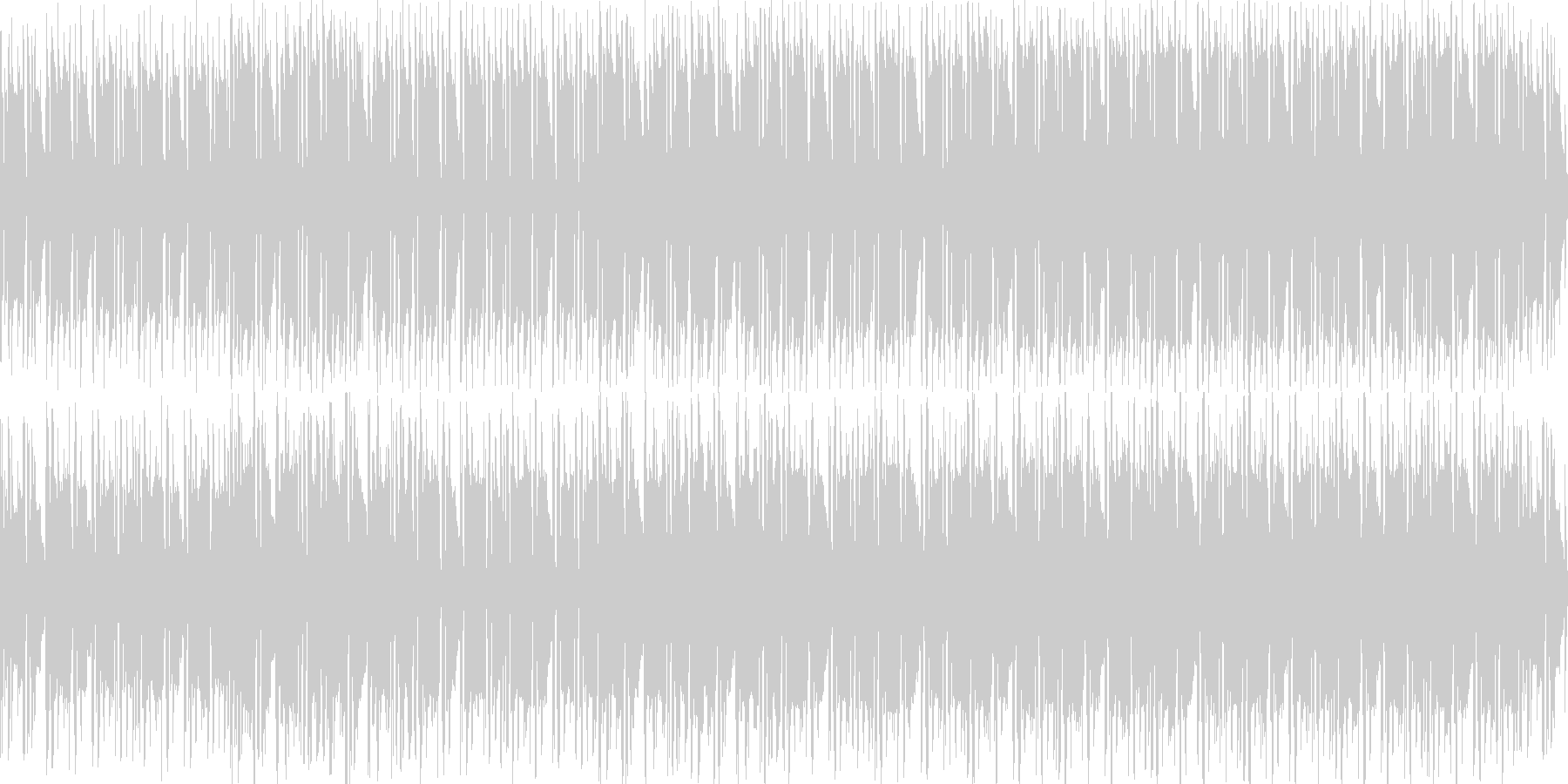 悪い雰囲気のヒップホップっぽいBGMの未再生の波形