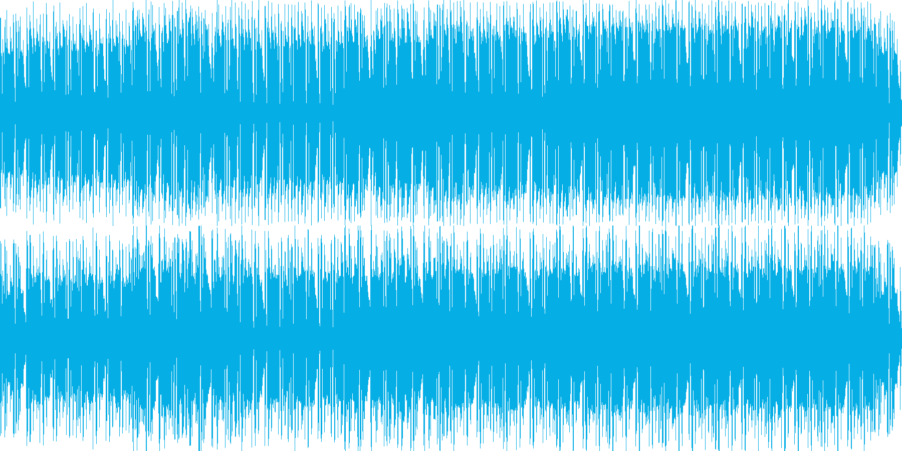 悪い雰囲気のヒップホップっぽいBGMの再生済みの波形