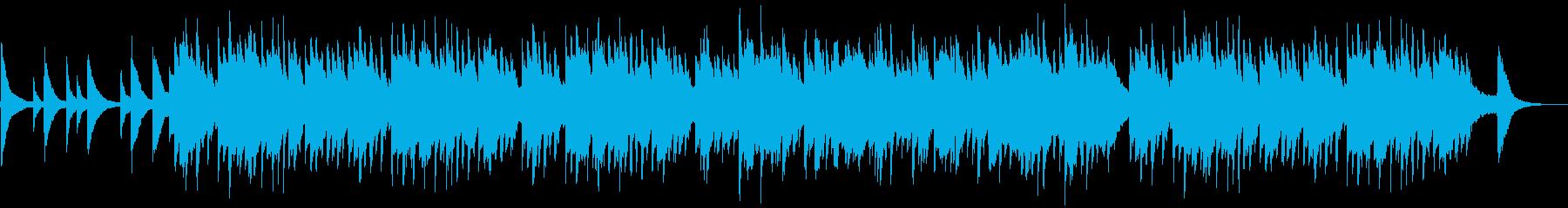 シリアス/悲しげなピアノバラードの再生済みの波形