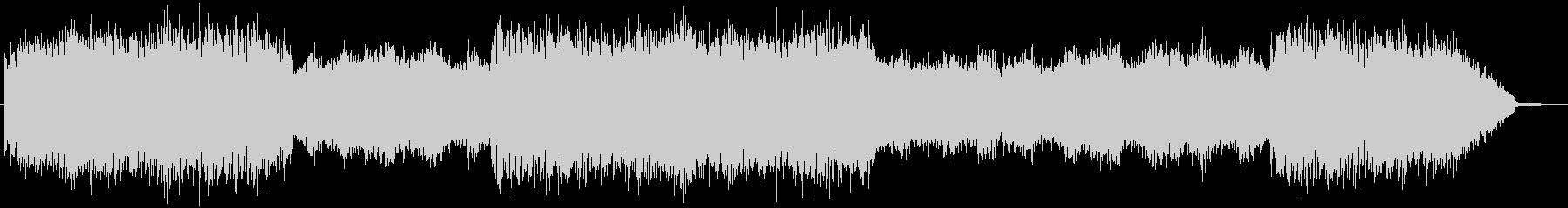 エコーの効いた幻想的なミュージックの未再生の波形