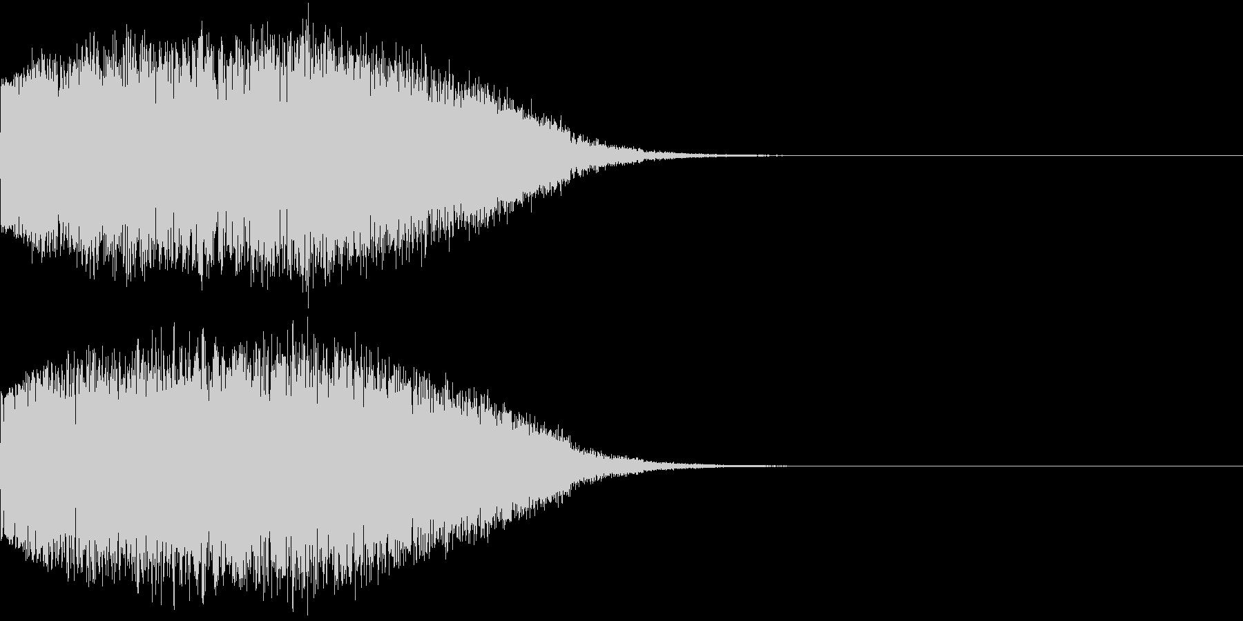 ギュイーン 重め ギューン 光る 027の未再生の波形
