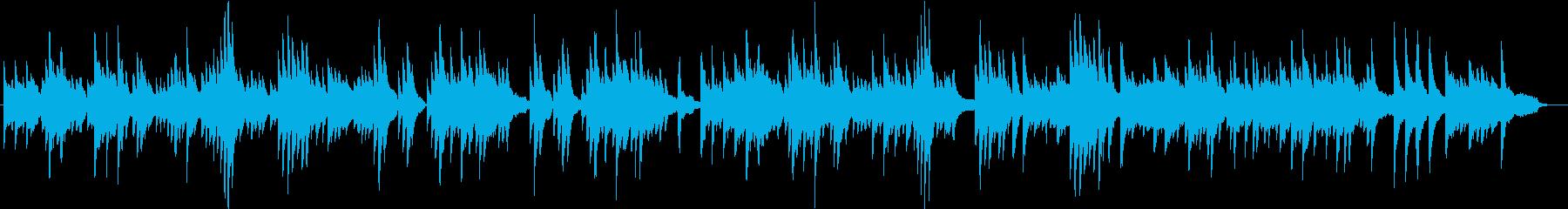 静かで壮大、感動的なピアノのバラードの再生済みの波形