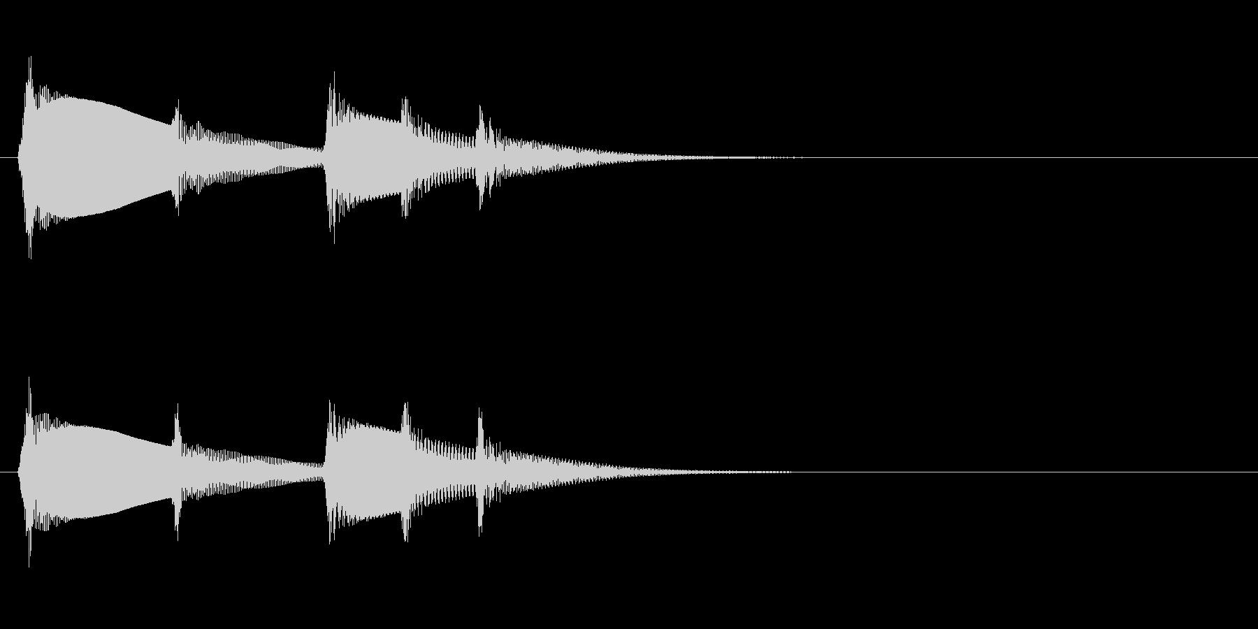 カリンバ「ティントンティトティン」電話音の未再生の波形