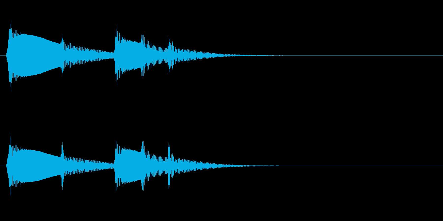 カリンバ「ティントンティトティン」電話音の再生済みの波形