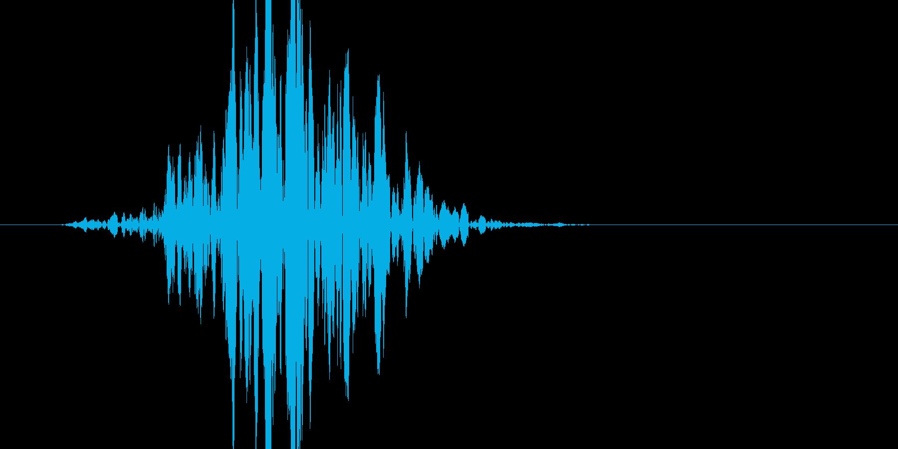 少し迫力が有るバット素振り音です。の再生済みの波形