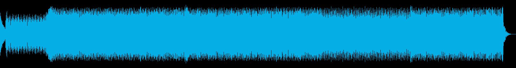 ダークな雰囲気のエレクトロダンスの再生済みの波形