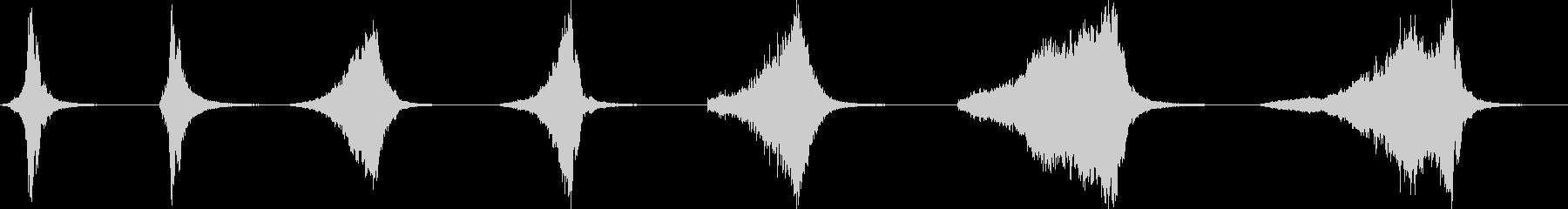 シンバル、クラッシュ、ロール、7バ...の未再生の波形