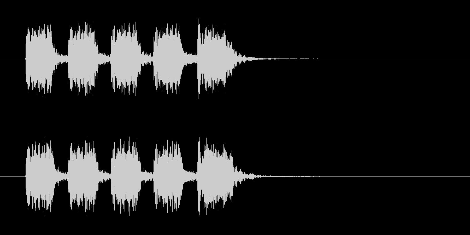 シンプルなリズムを刻んだギター曲の未再生の波形