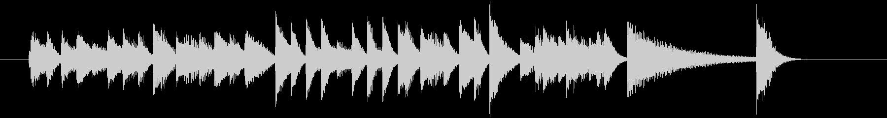 ベース跳ねるファストジャズピアノジングルの未再生の波形