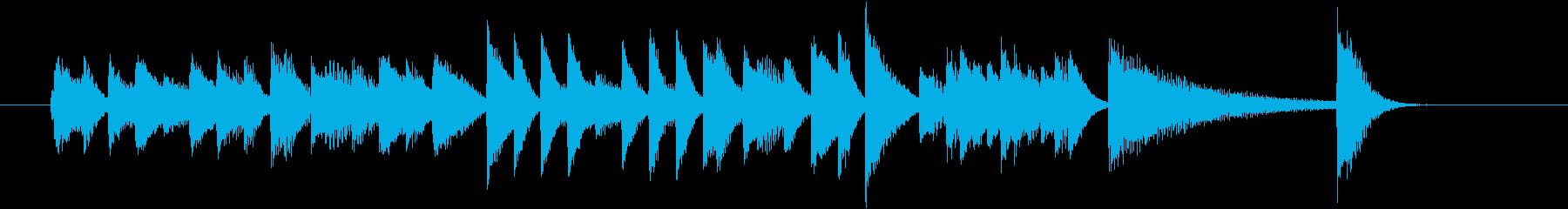 ベース跳ねるファストジャズピアノジングルの再生済みの波形
