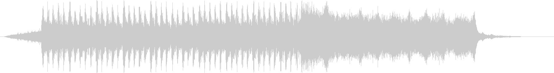 浮遊感、広がりのあるシンセサイザー音の未再生の波形