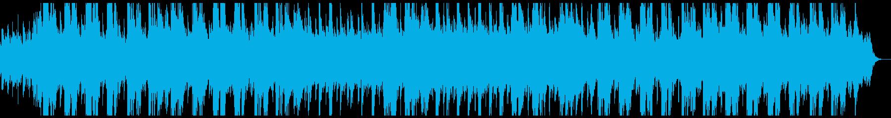 ノスタルジックなピアノとシンセサイザーの再生済みの波形
