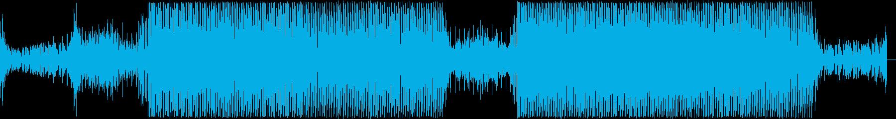 軽快なディスコハウスの再生済みの波形