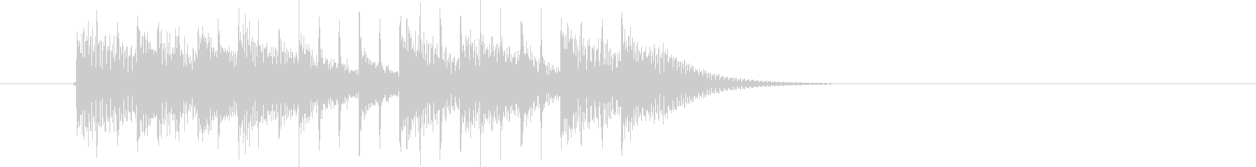 クールな疾走感のジングル、サウンドロゴの未再生の波形
