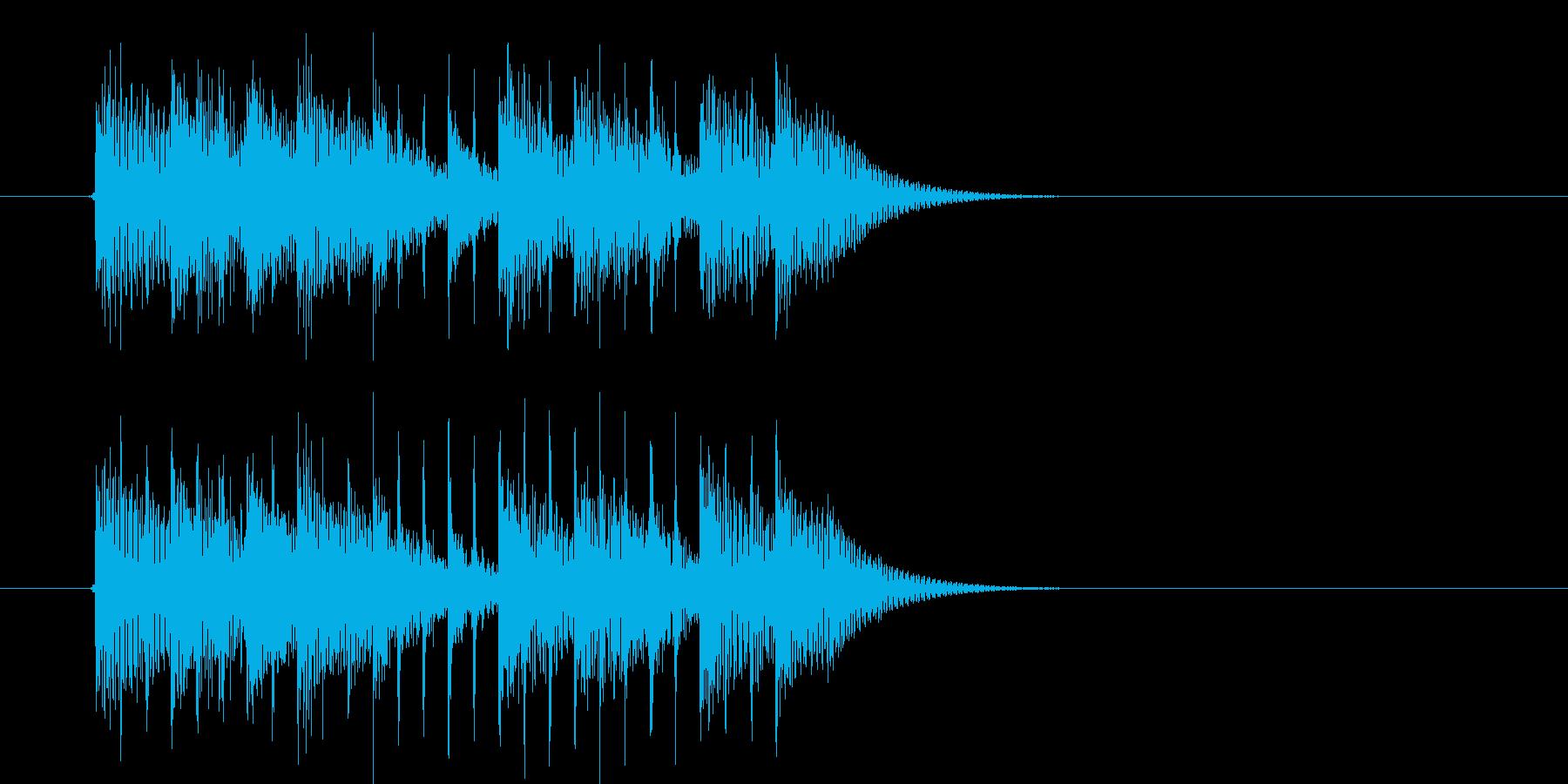クールな疾走感のジングル、サウンドロゴの再生済みの波形