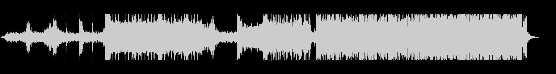歪んだベース音が主体のドラムンベースの未再生の波形