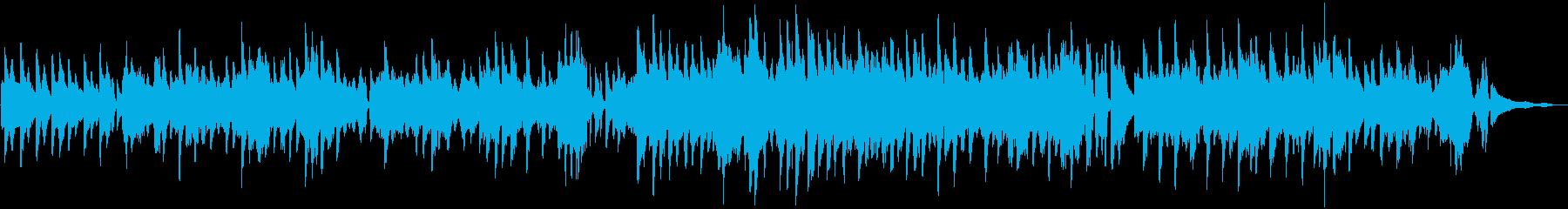 おしゃれで明るいスウィング フィドルの再生済みの波形