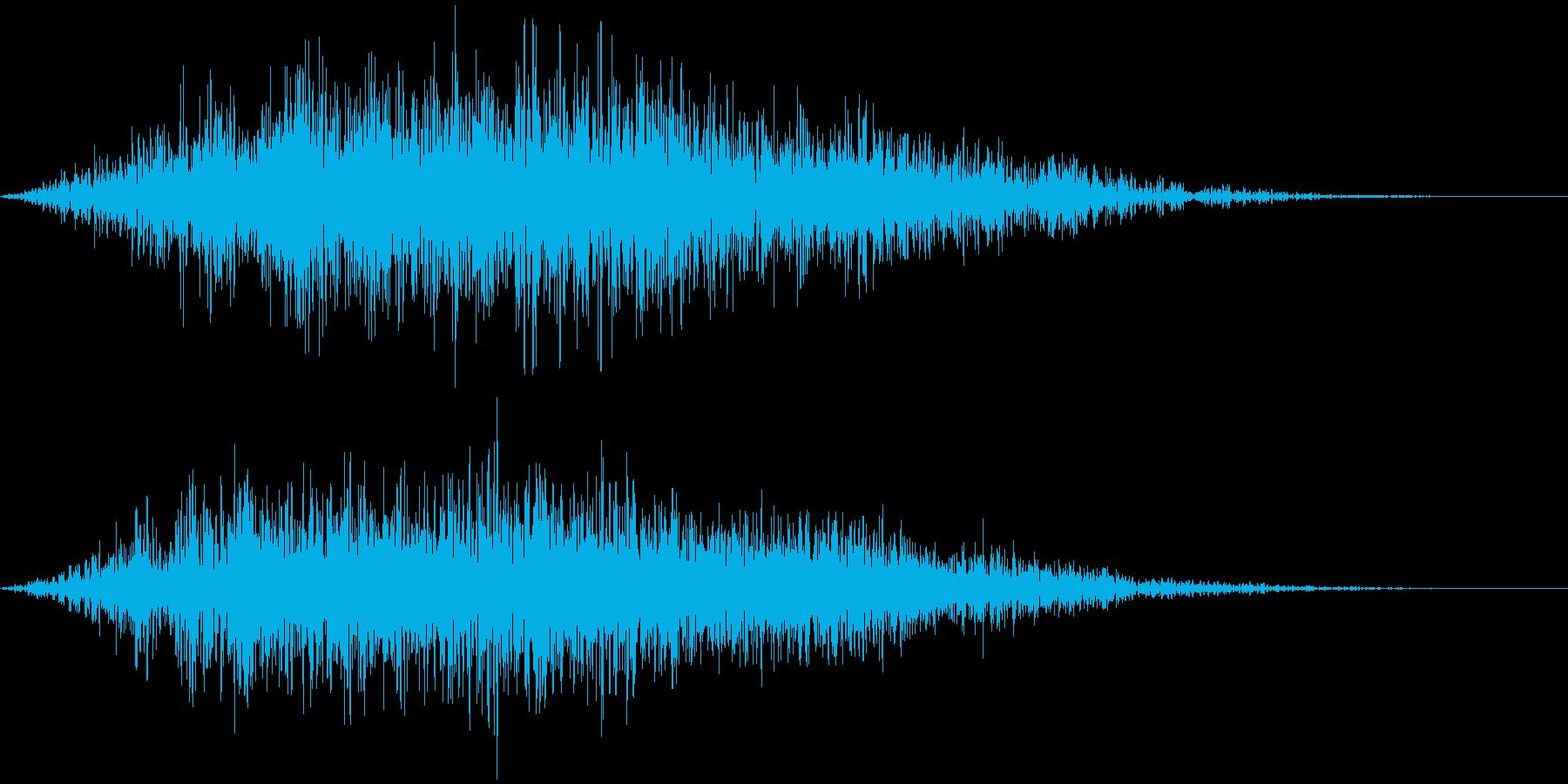魔法の発動 召還、出現消滅  ビョゥィッの再生済みの波形