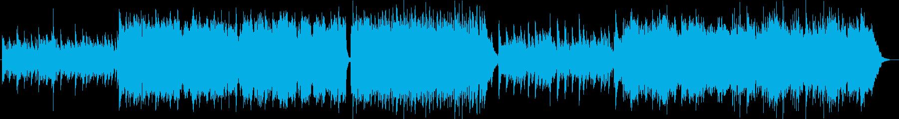 悲しげなシンセサイザーサウンドの再生済みの波形