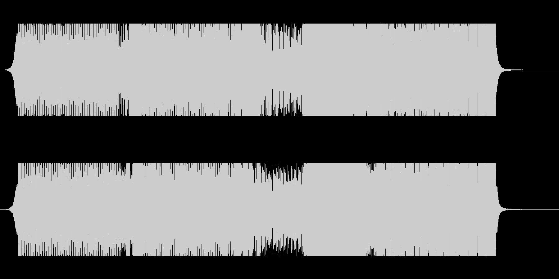 イベント会場などで流す映像用のEDM楽曲の未再生の波形