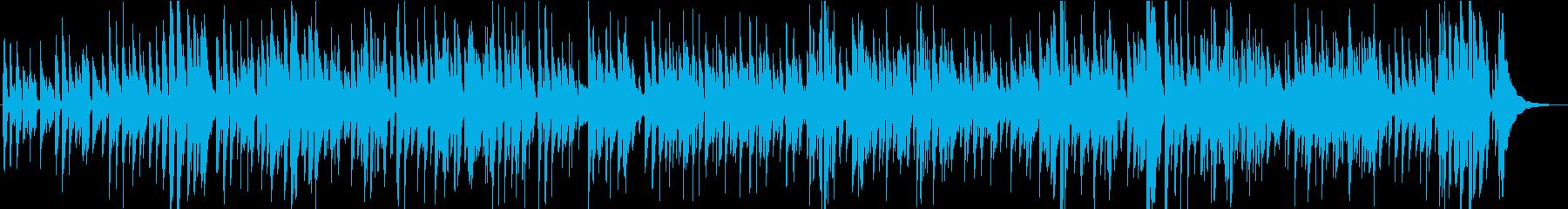 おしゃれでリラックスムーディーなアコギの再生済みの波形