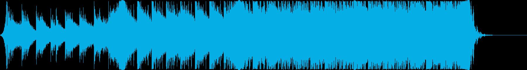 ゲーム・アニメCM用「始まり」系BGMの再生済みの波形