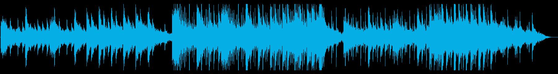 広大な風景をイメージしたピアノメインの曲の再生済みの波形