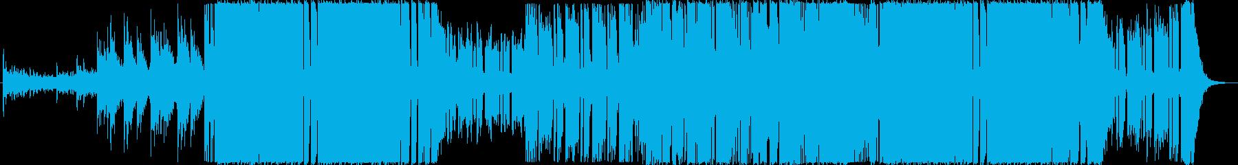 ロック・ギターステップ風楽曲の再生済みの波形