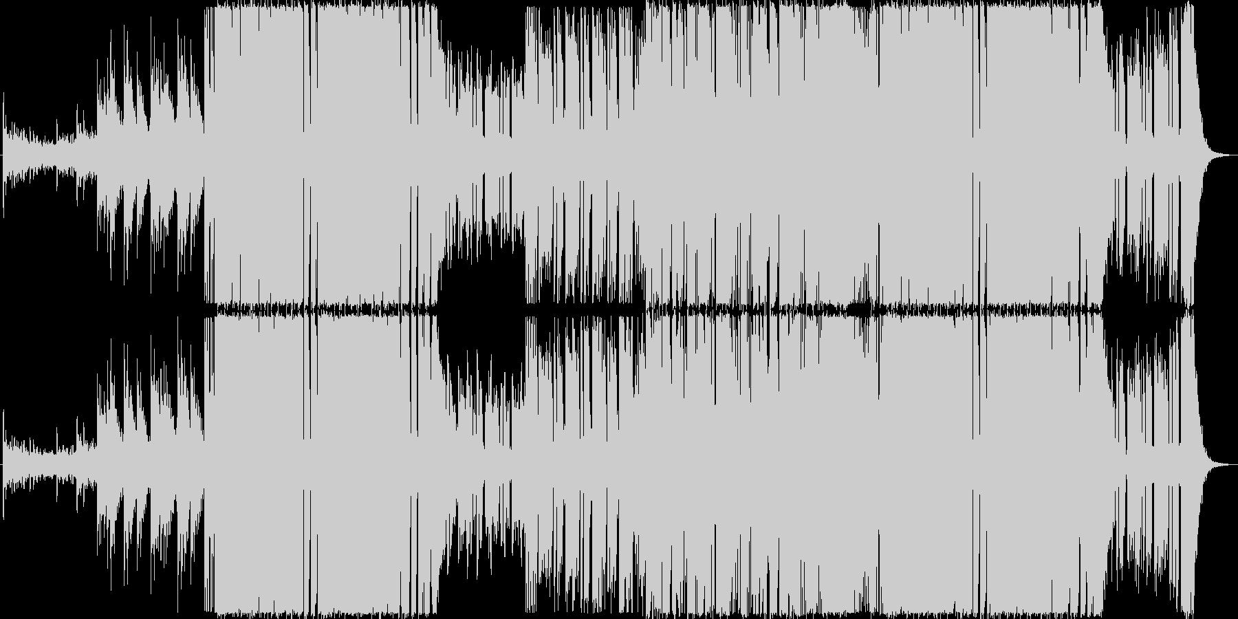 ロック・ギターステップ風楽曲の未再生の波形